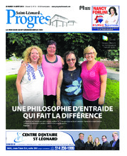 Progrès Saint-Léonard – 14 août 2018
