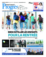 Progrès Saint-Léonard – 21 août 2018