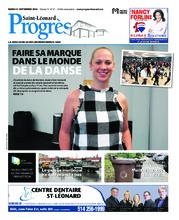 Progrès Saint-Léonard – 11 septembre 2018
