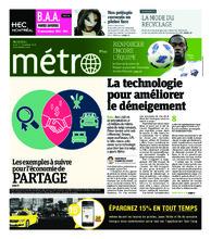 Journal Métro – 1 novembre 2018