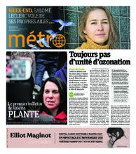 Journal Métro – 2 novembre 2018