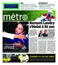 Journal Métro – 7 novembre 2018