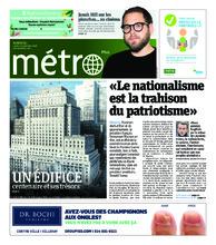 Journal Métro – 12 novembre 2018