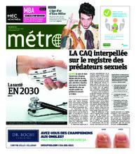Journal Métro – 19 novembre 2018