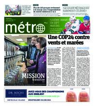 Journal Métro – 3 décembre 2018