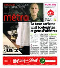 Journal Métro – 7 décembre 2018