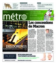 Journal Métro – 11 décembre 2018