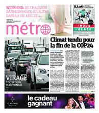 Journal Métro – 14 décembre 2018