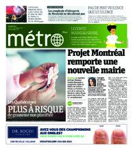 Journal Métro – 17 décembre 2018