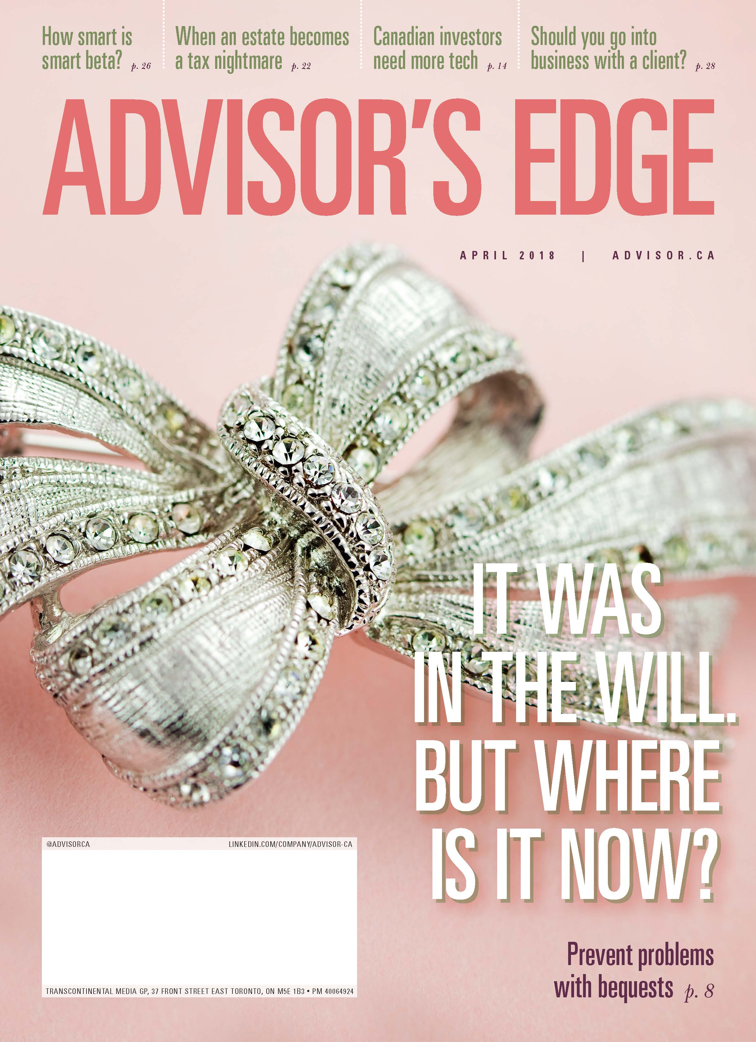Advisor's Edge – 1 avril 2018