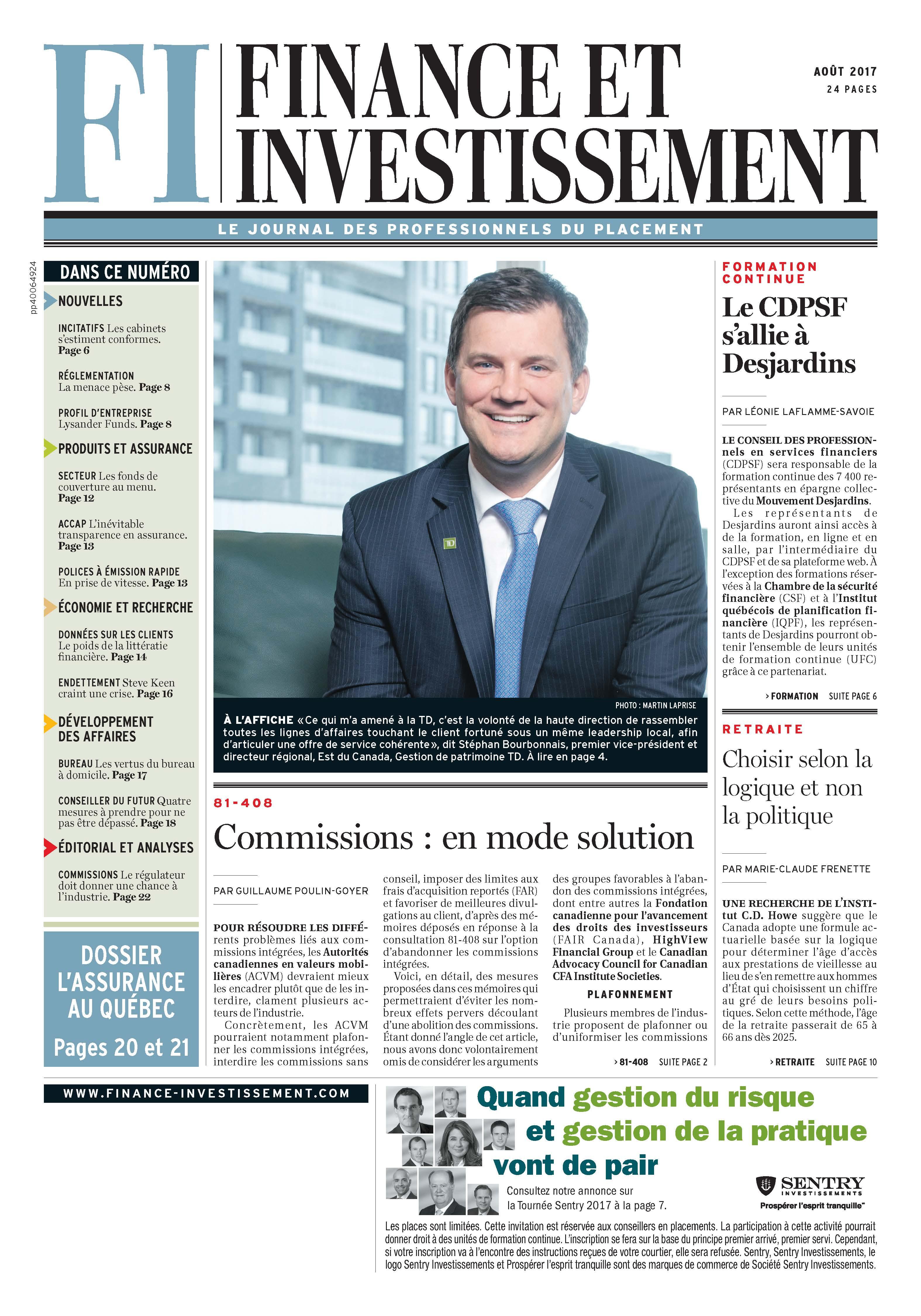 Finance et Investissement – 1 août 2017