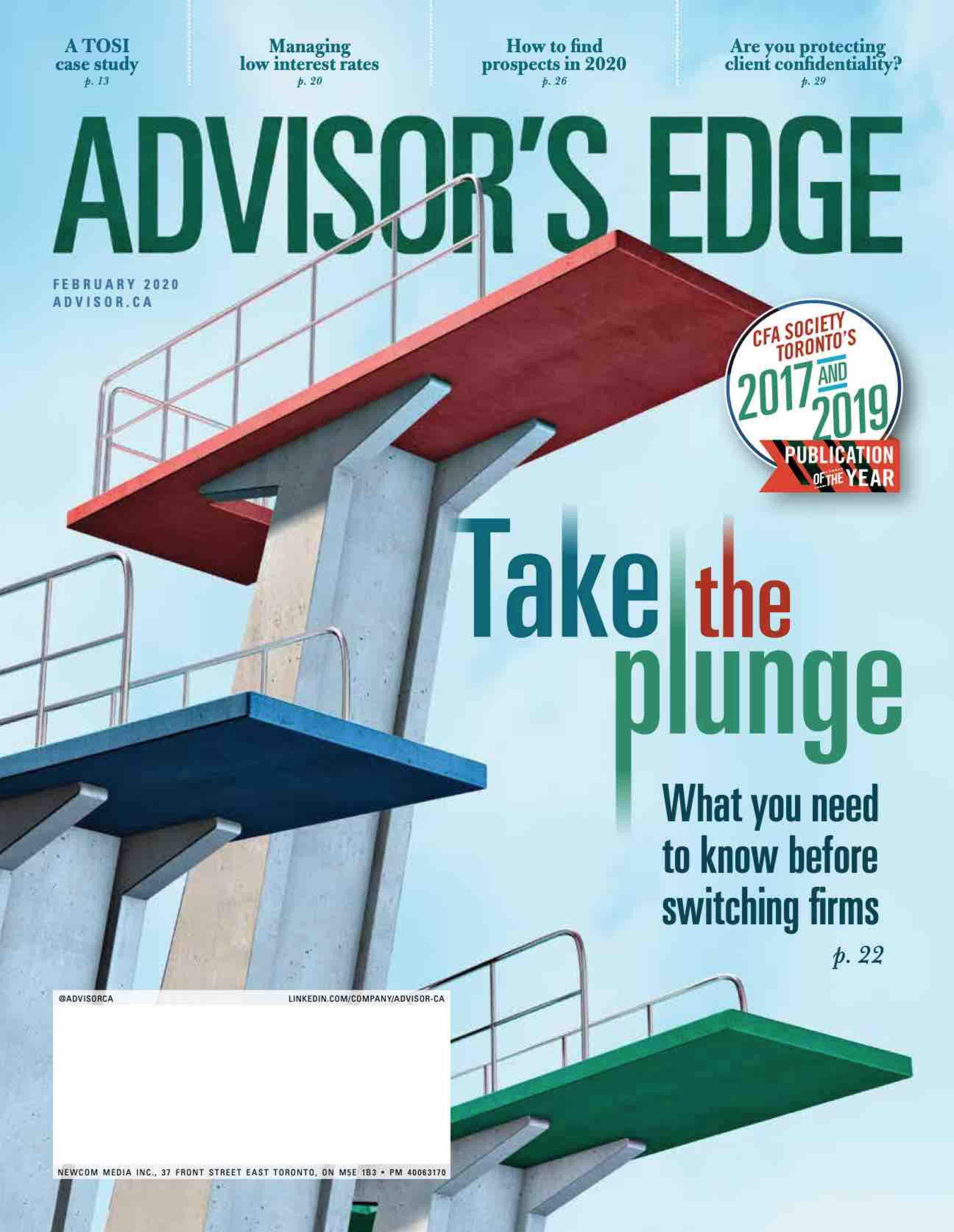 Advisor's Edge – 1 février 2020