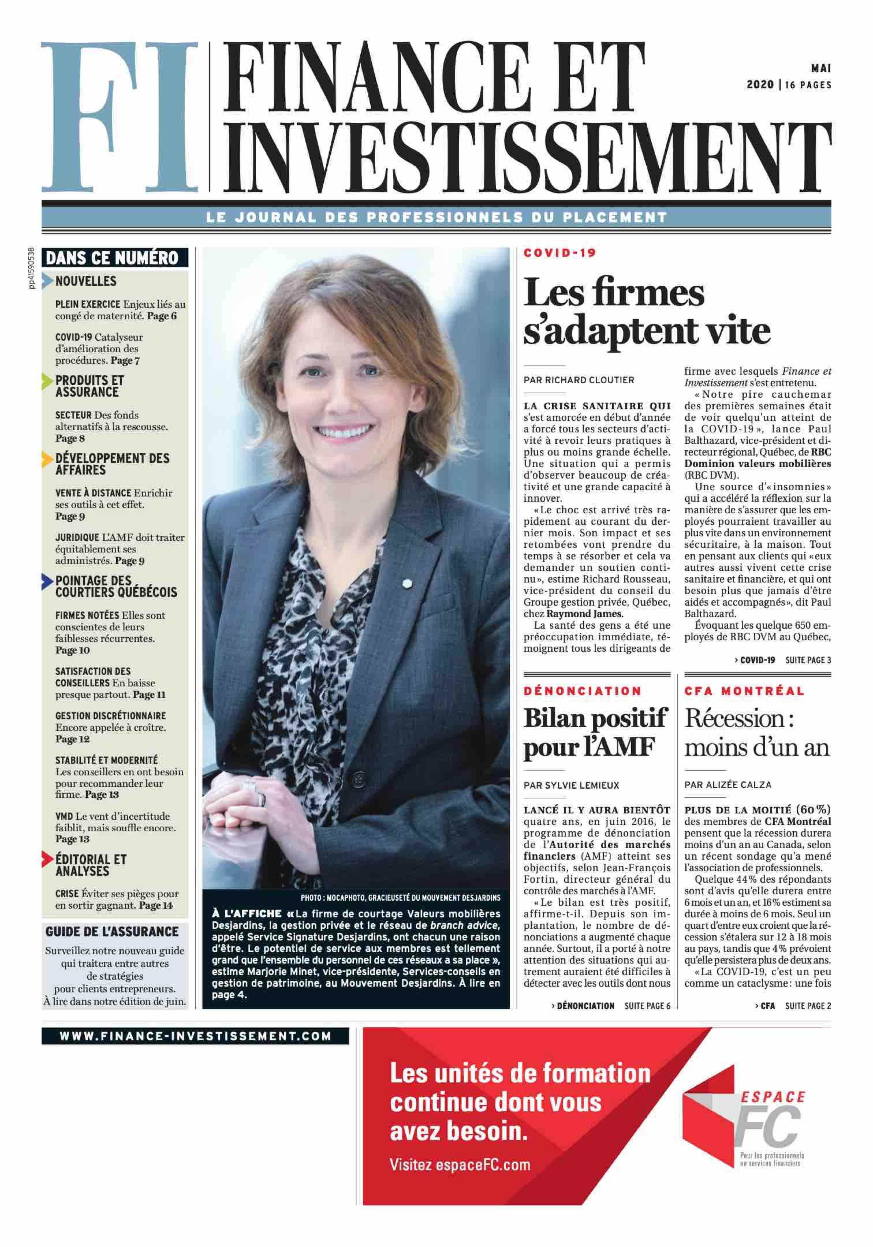 Finance et Investissement – 1 mai 2020