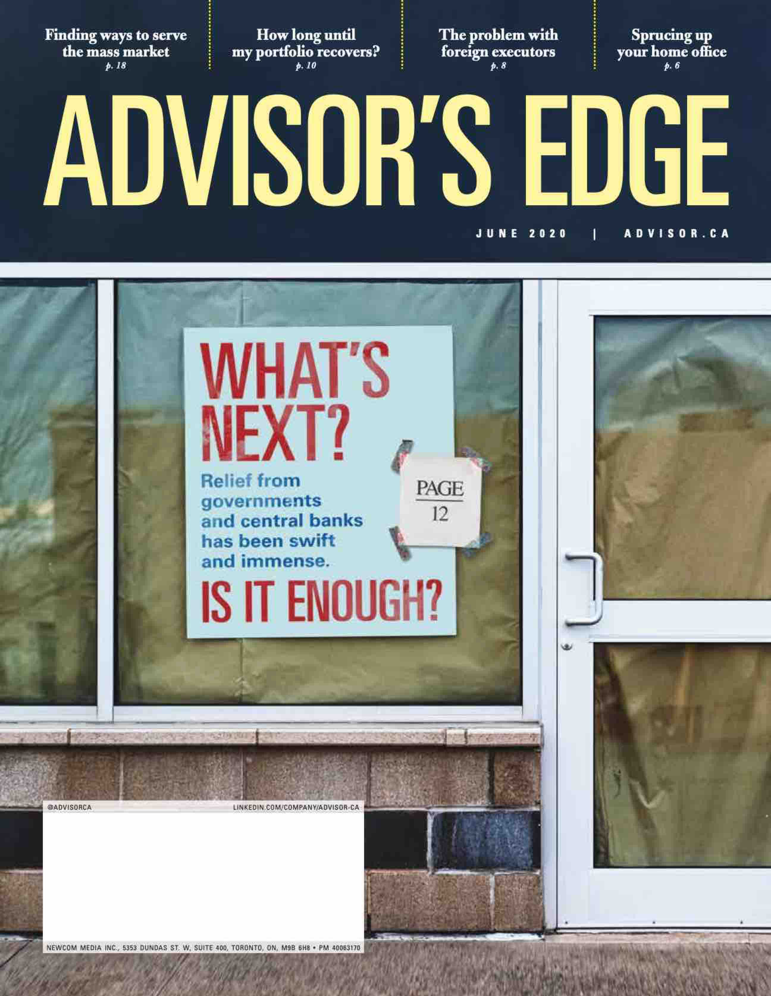 Advisor's Edge – 1 juin 2020
