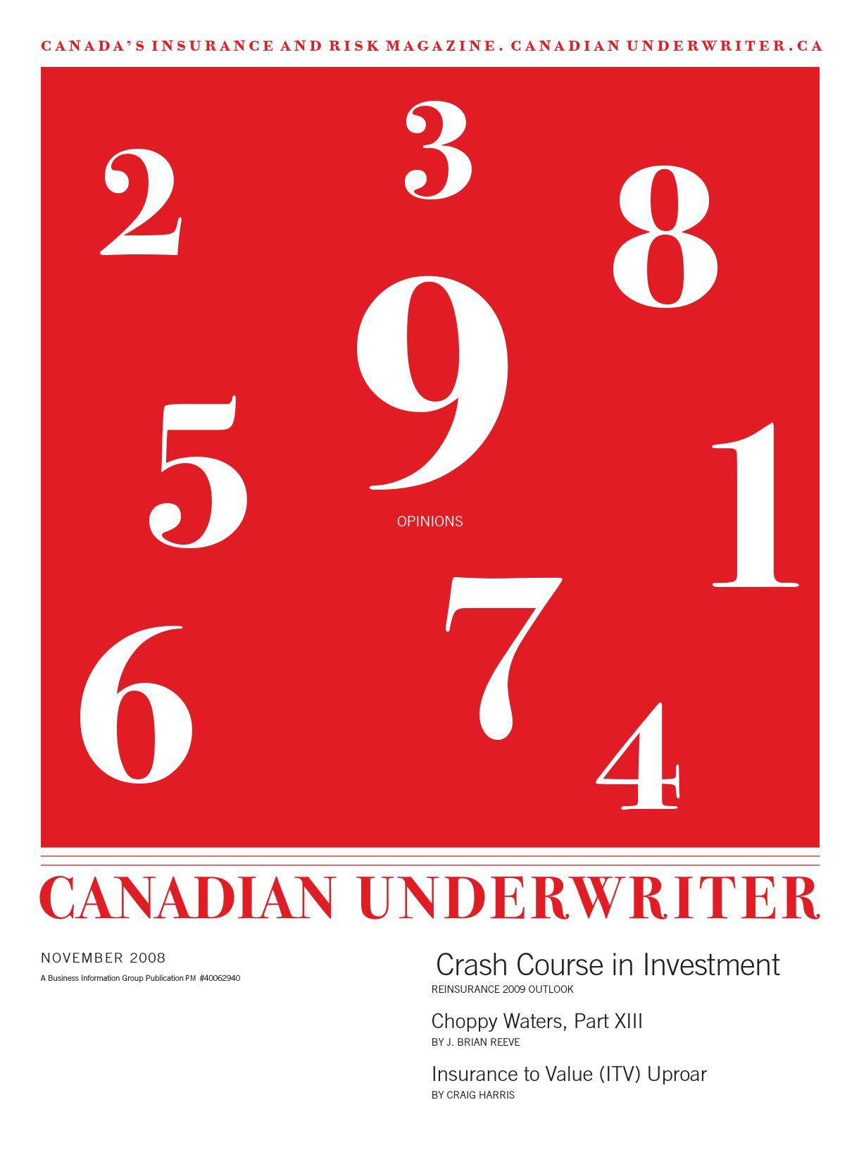 Canadian Underwriter – 1 novembre 2008