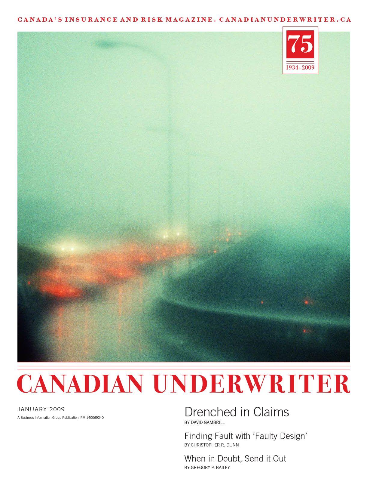 Canadian Underwriter – 1 janvier 2009