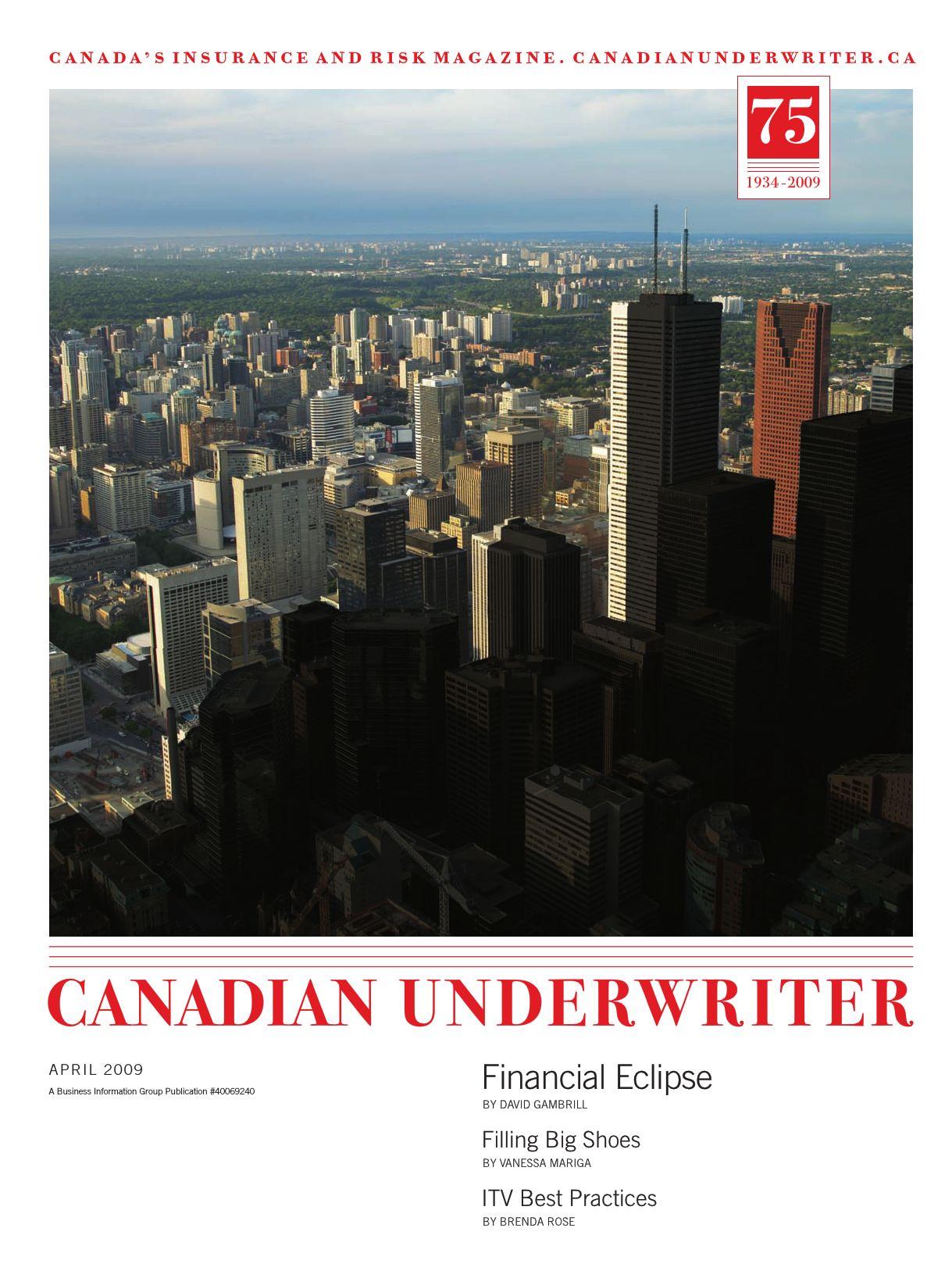 Canadian Underwriter – 1 avril 2009