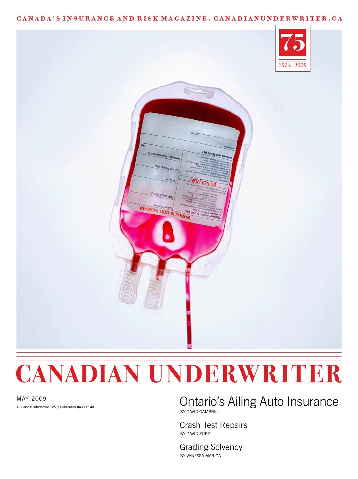 Canadian Underwriter – 1 mai 2009