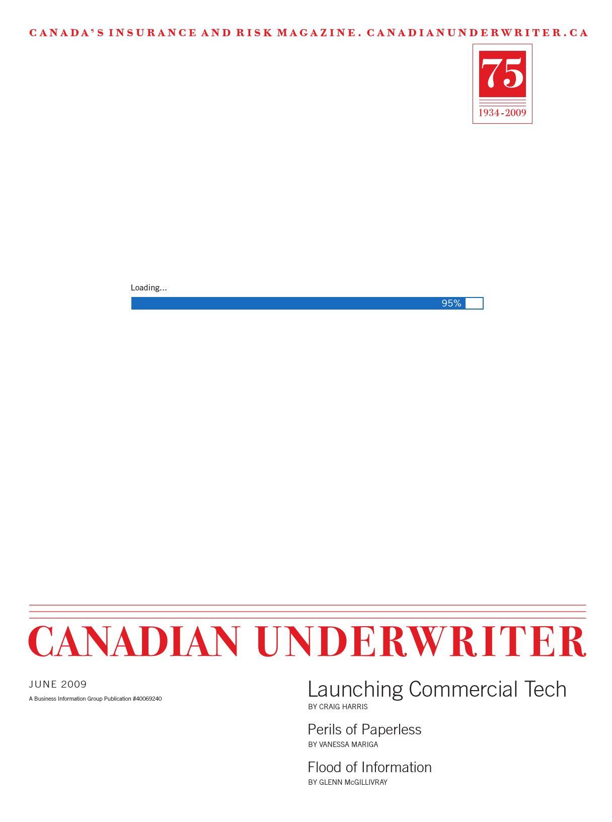 Canadian Underwriter – 1 juin 2009