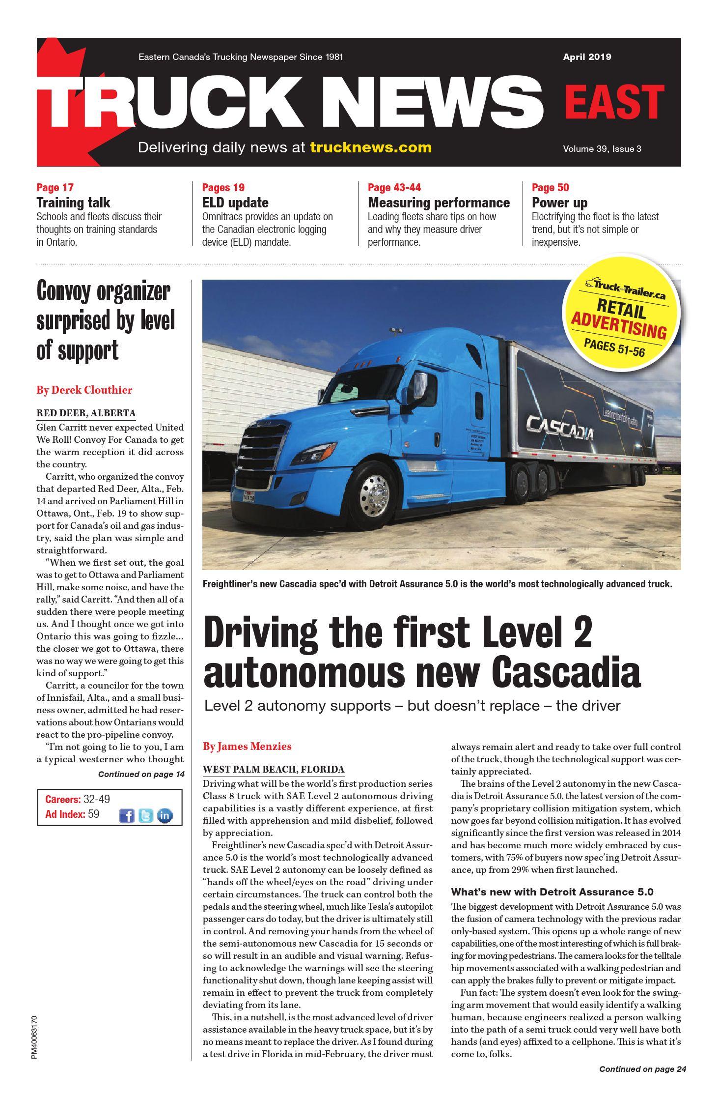 Truck News East – 1 avril 2019