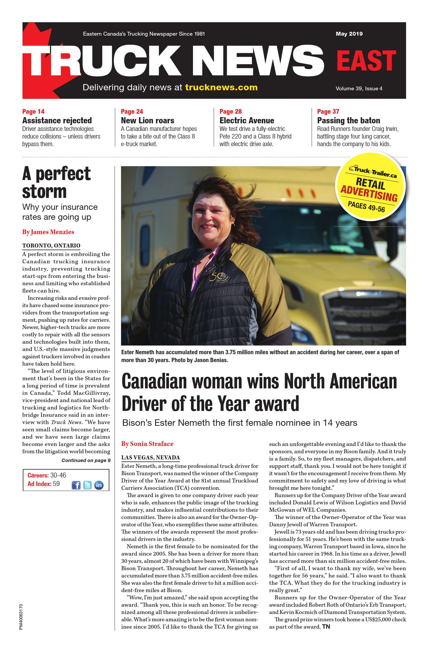 Truck News East – 1 mai 2019