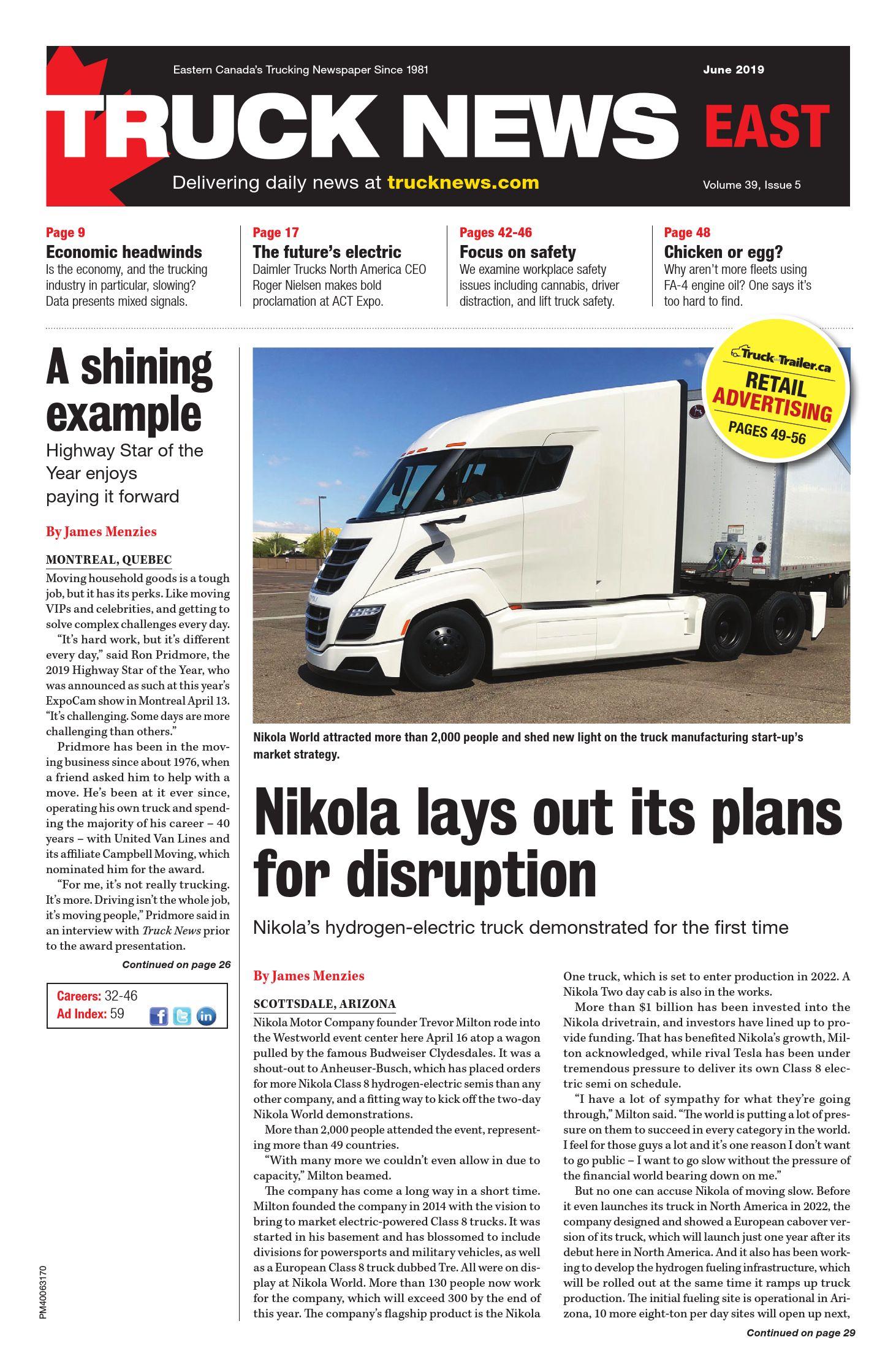 Truck News East – 1 juin 2019
