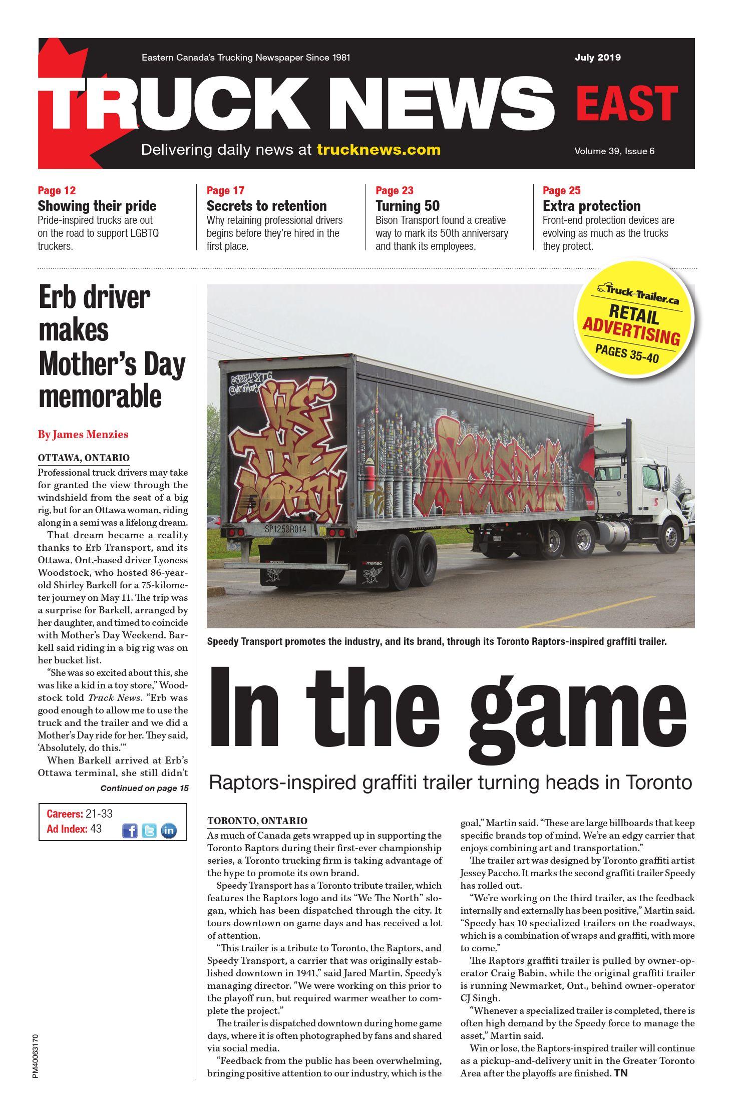 Truck News East – 1 juillet 2019