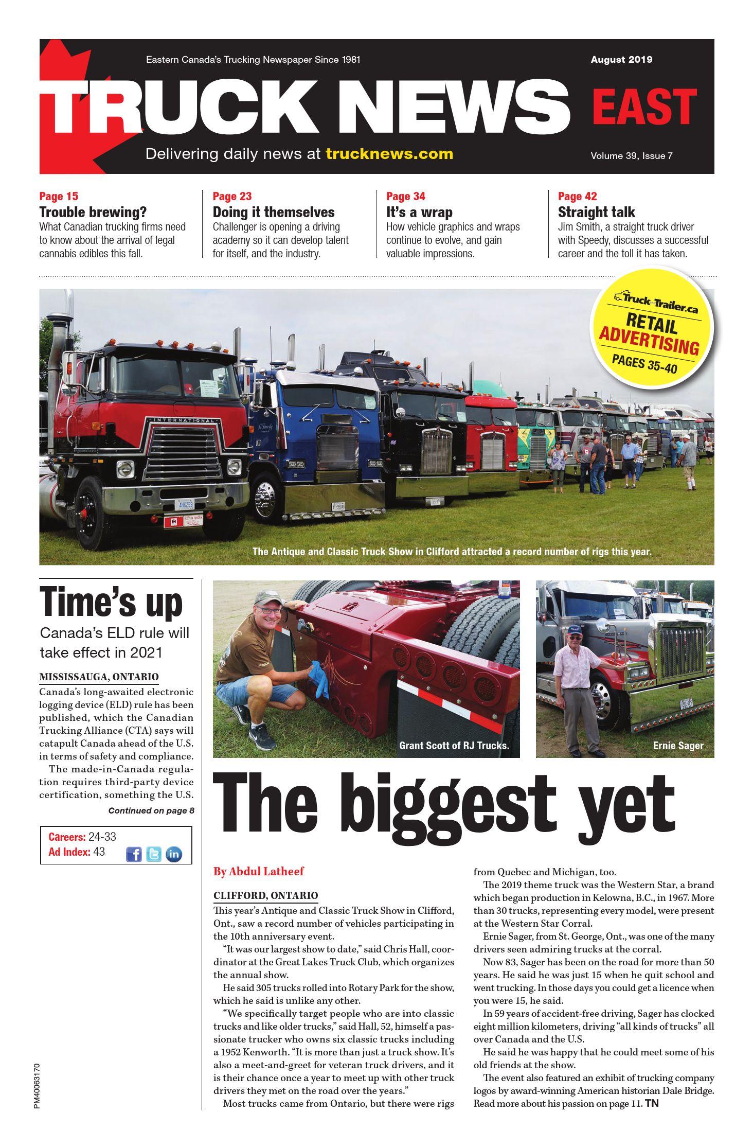 Truck News East – 1 août 2019