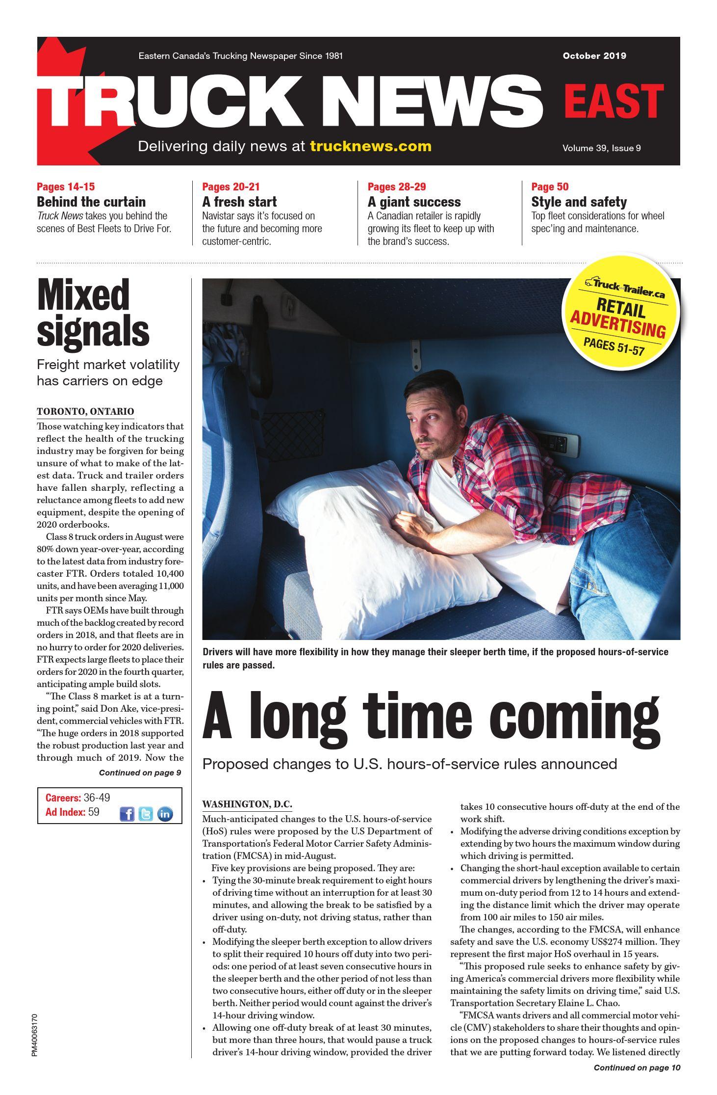 Truck News East – 1 octobre 2019