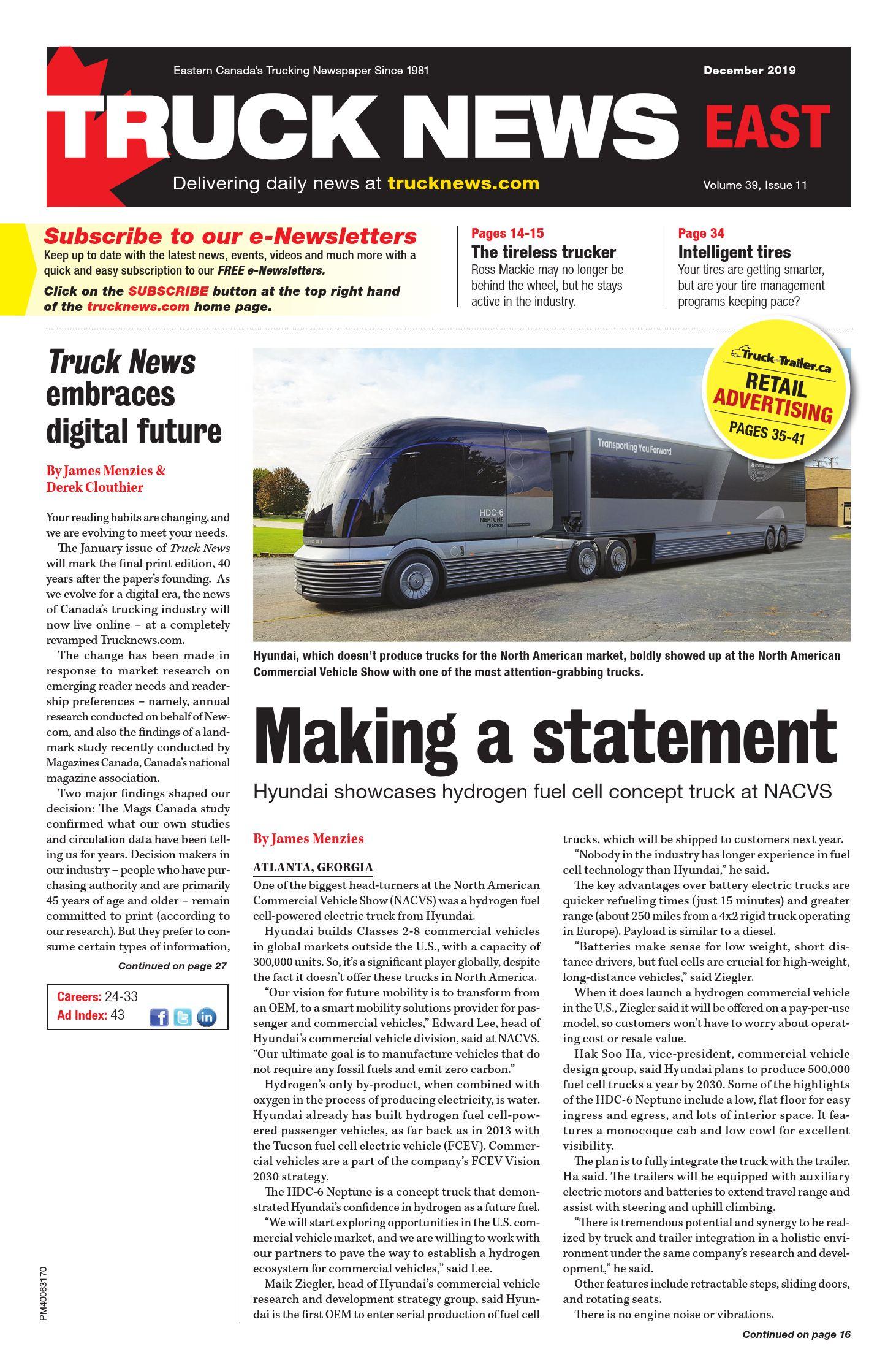 Truck News East – 1 décembre 2019