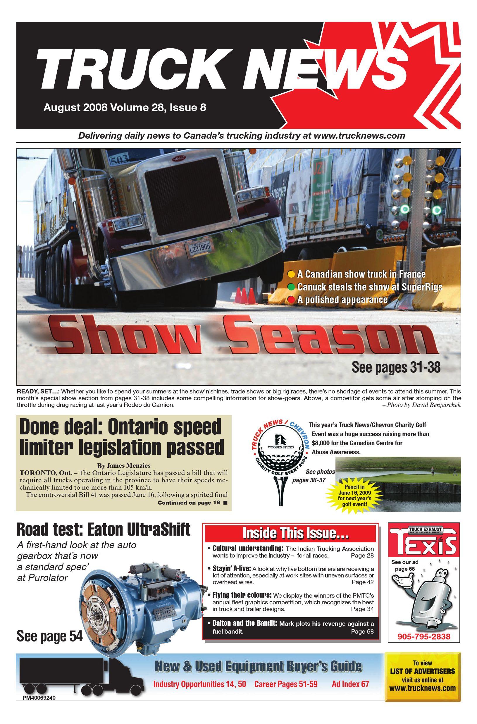 Truck News East – August 2008