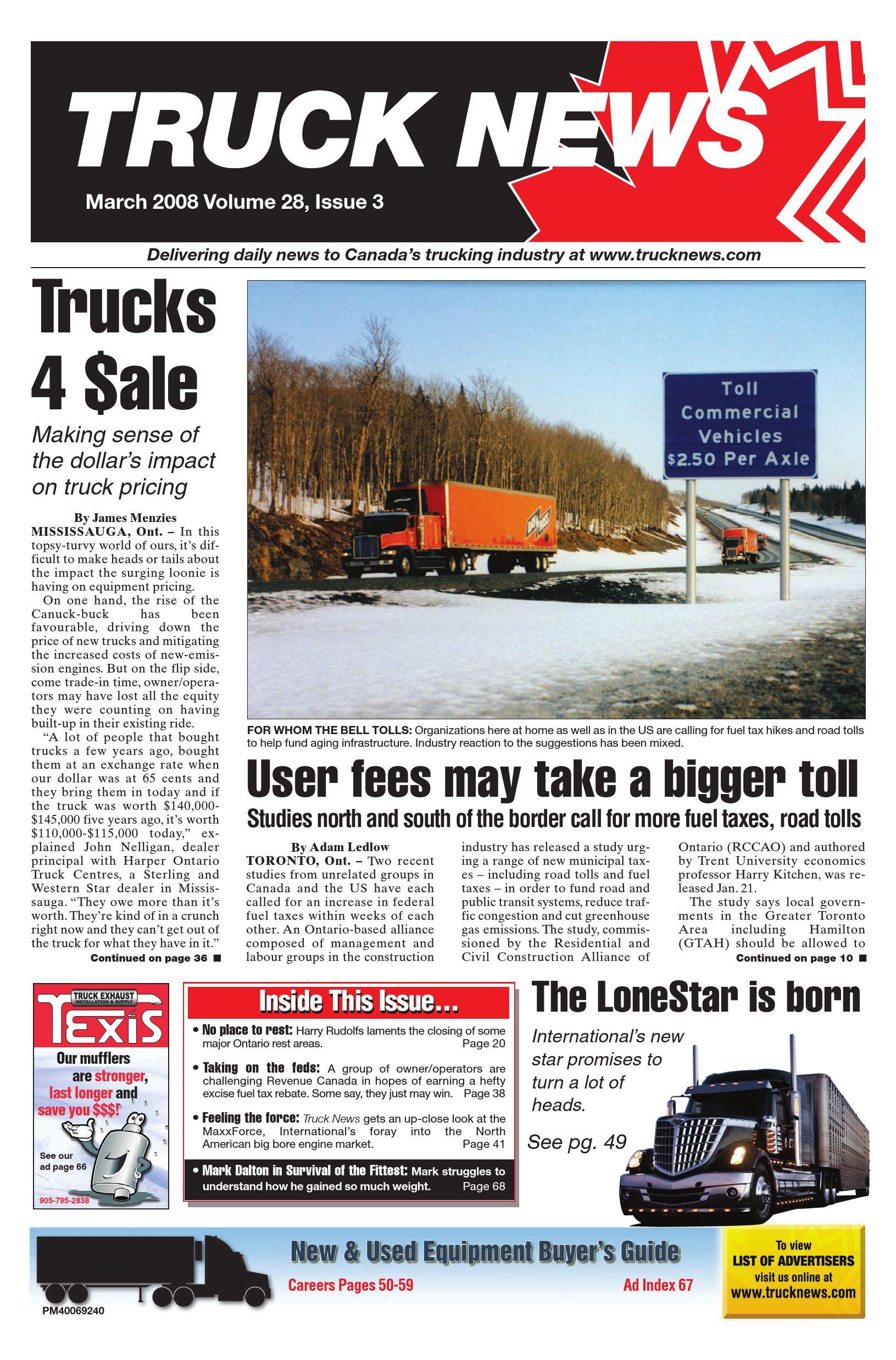 Truck News East – Mars 2008