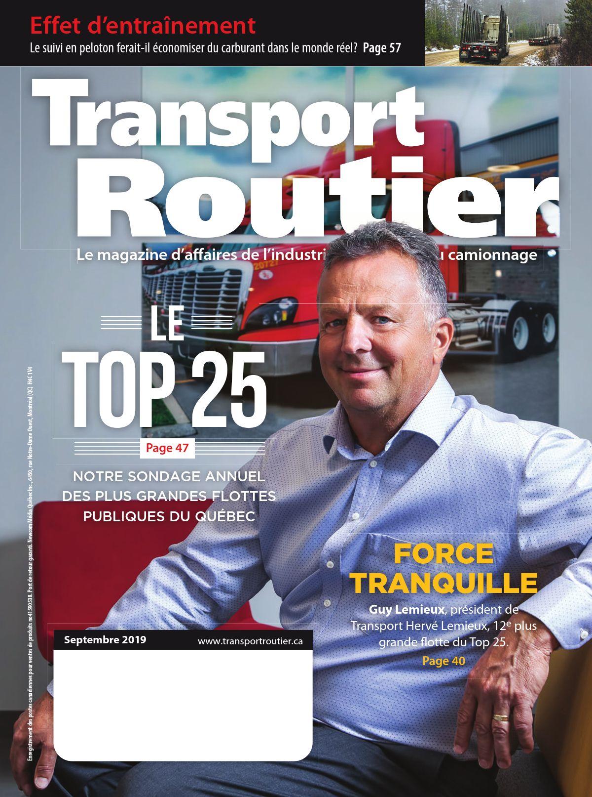 Transport routier – 1 septembre 2019