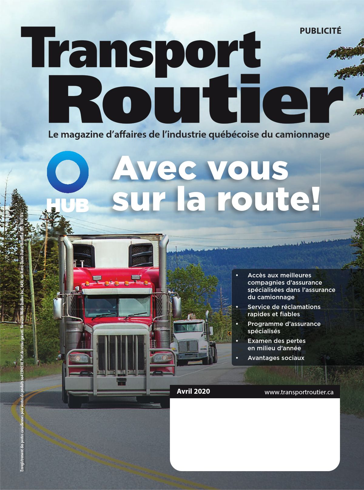 Transport routier – 1 avril 2020