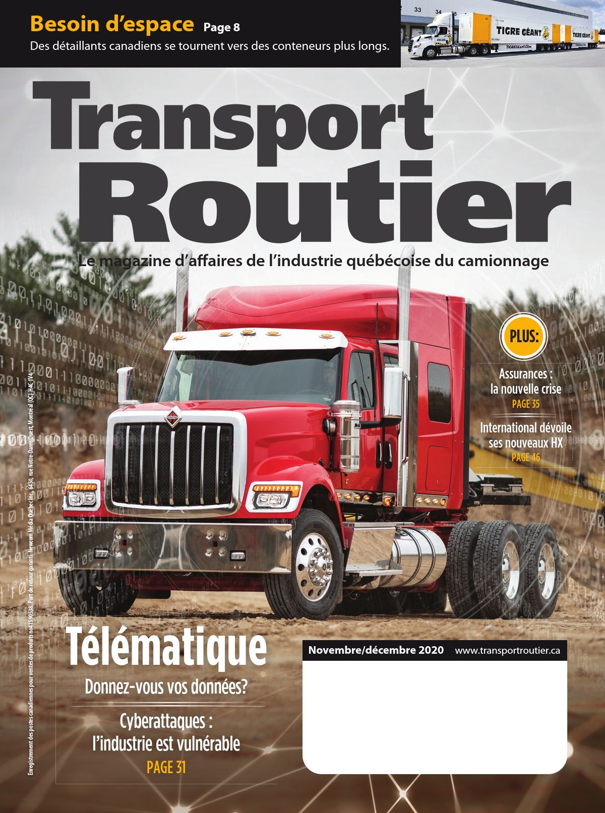 Transport routier – 1 novembre 2020