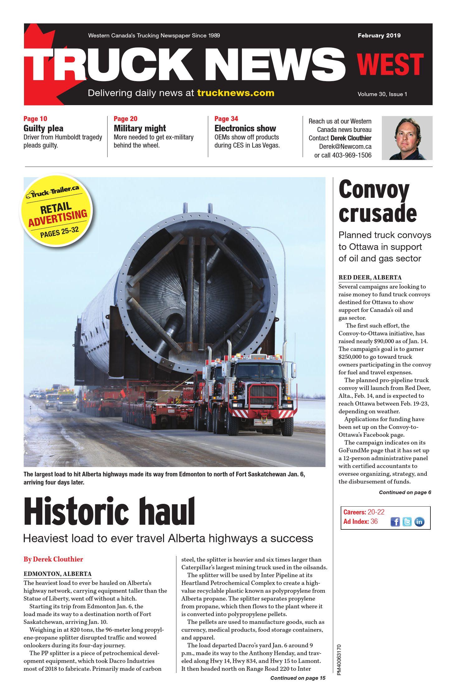Truck News West – 1 février 2019
