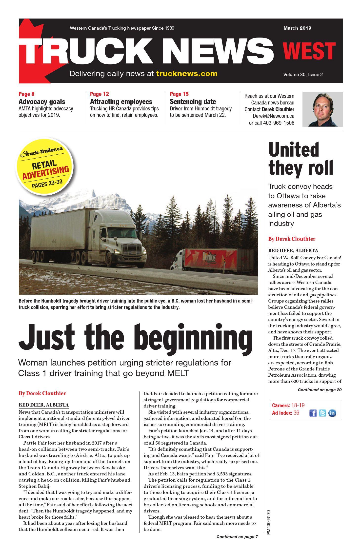Truck News West – 1 mars 2019