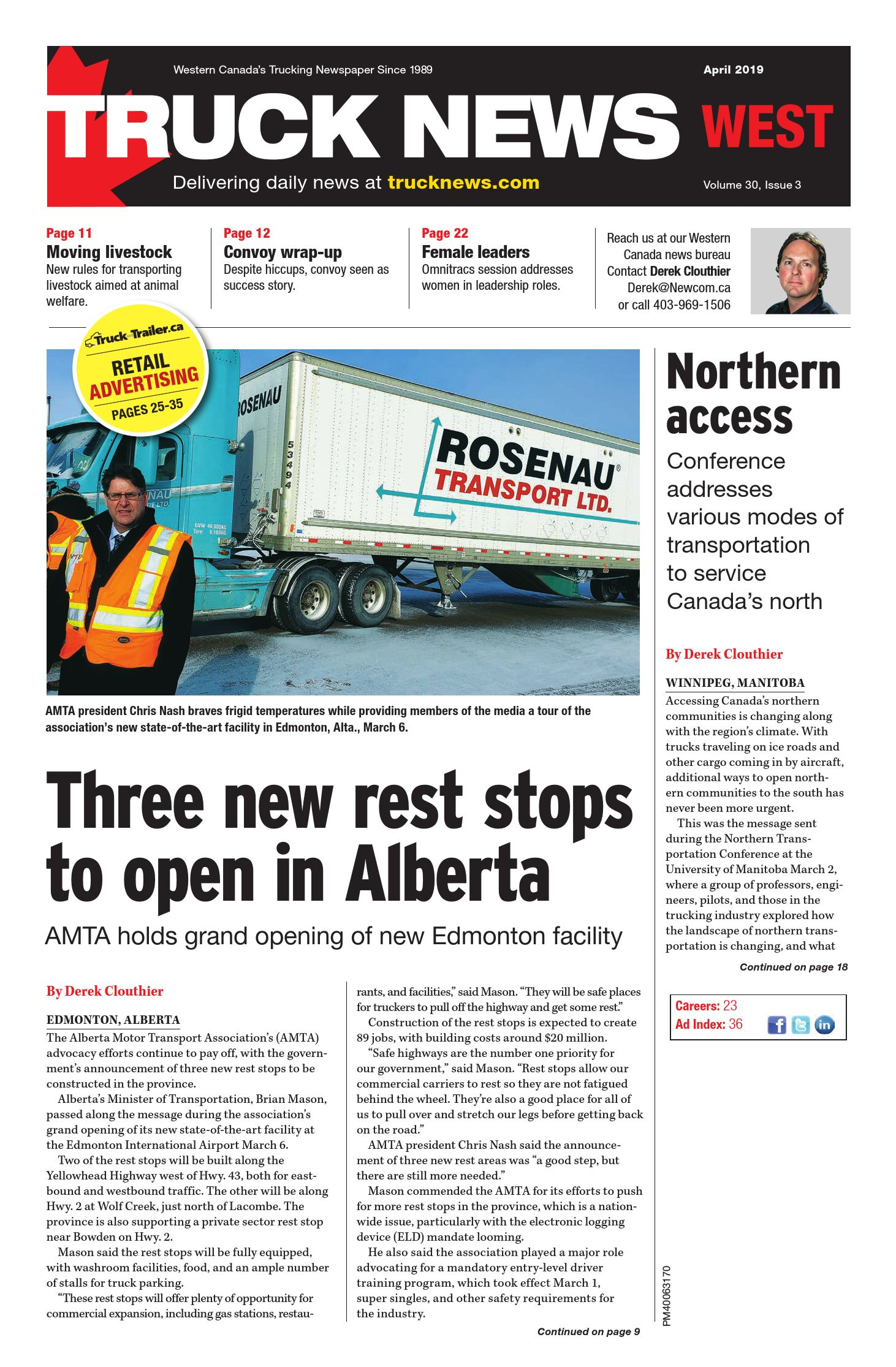 Truck News West – 1 avril 2019