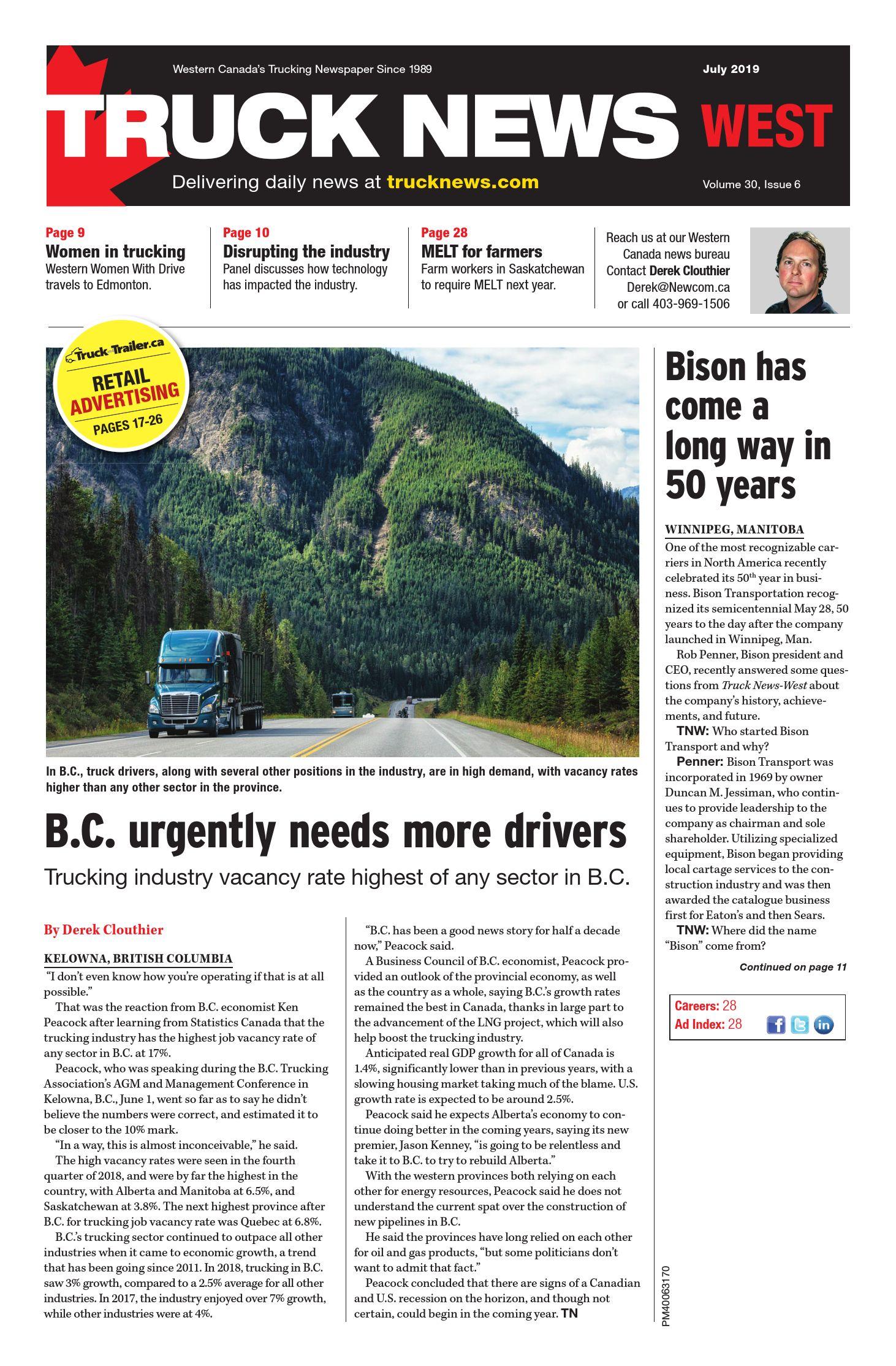 Truck News West – 1 juillet 2019