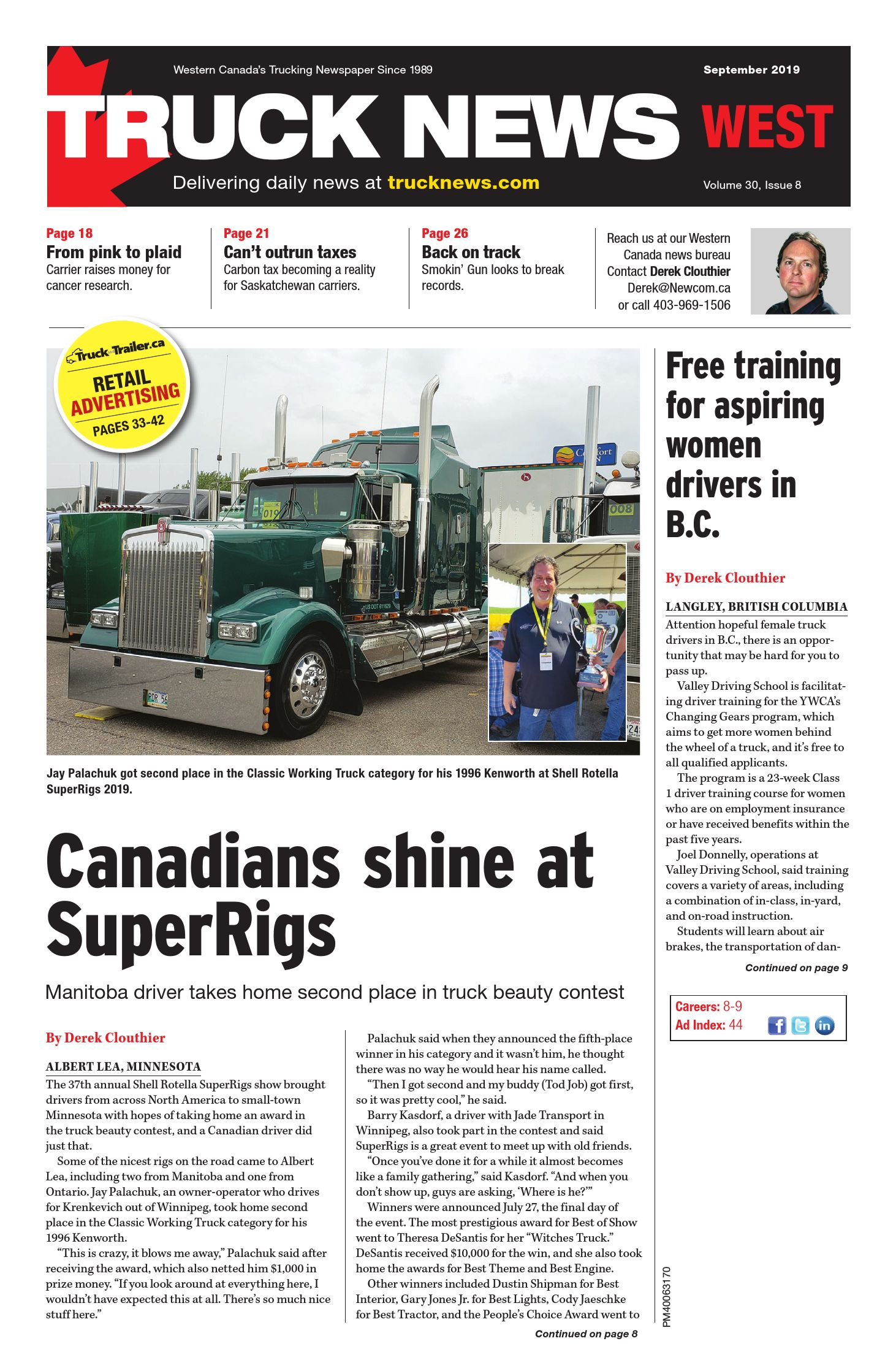 Truck News West – 1 septembre 2019