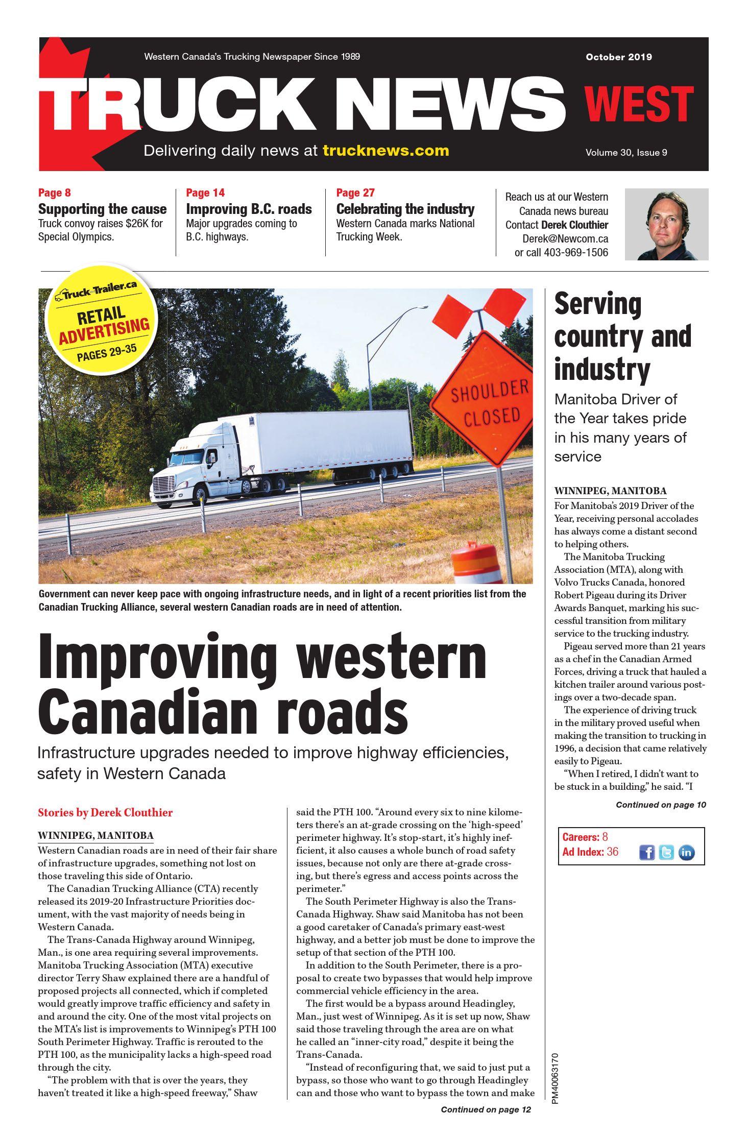 Truck News West – 1 octobre 2019
