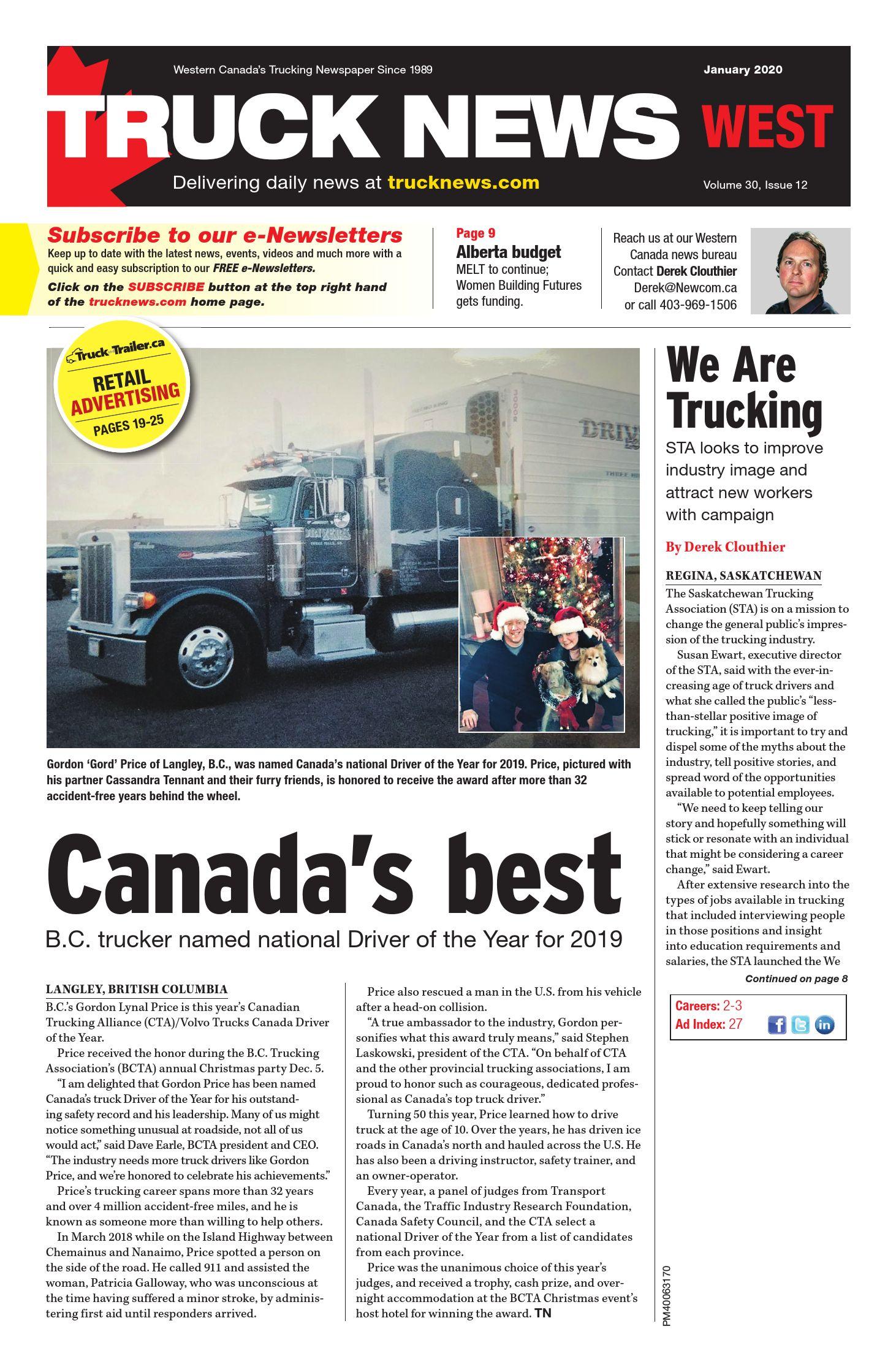 Truck News West – 1 janvier 2020