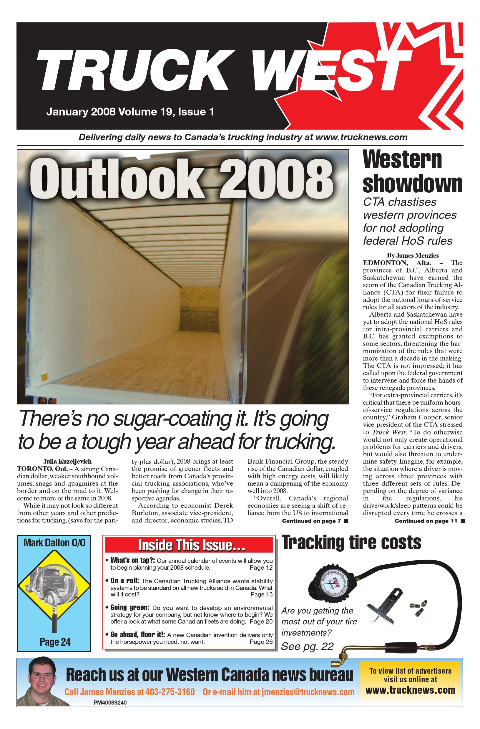 Truck News West – January 2008
