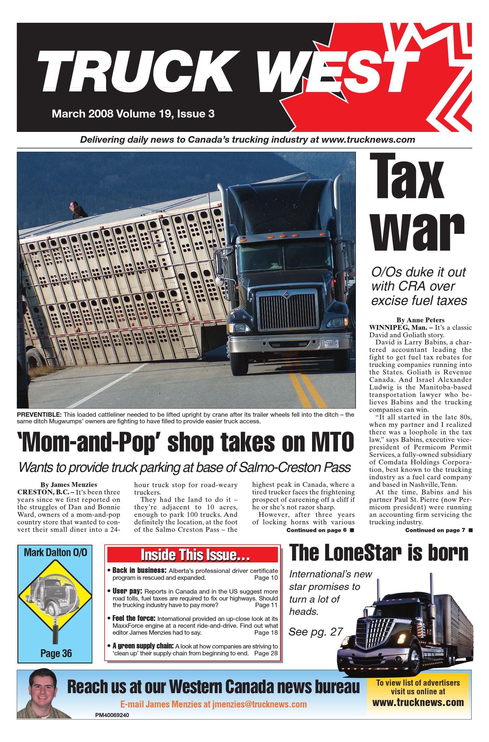 Truck News West – Mars 2008