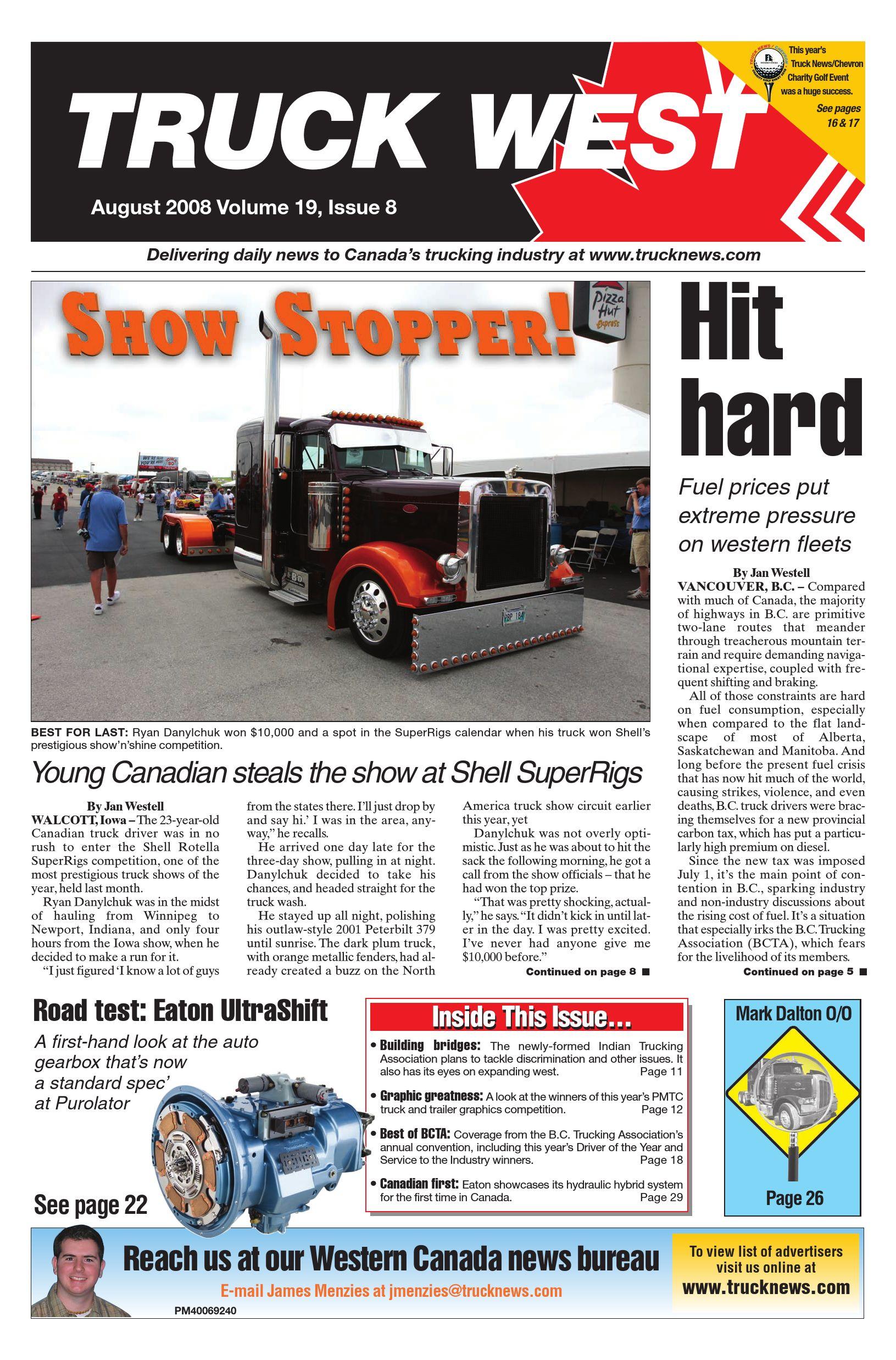 Truck News West – August 2008