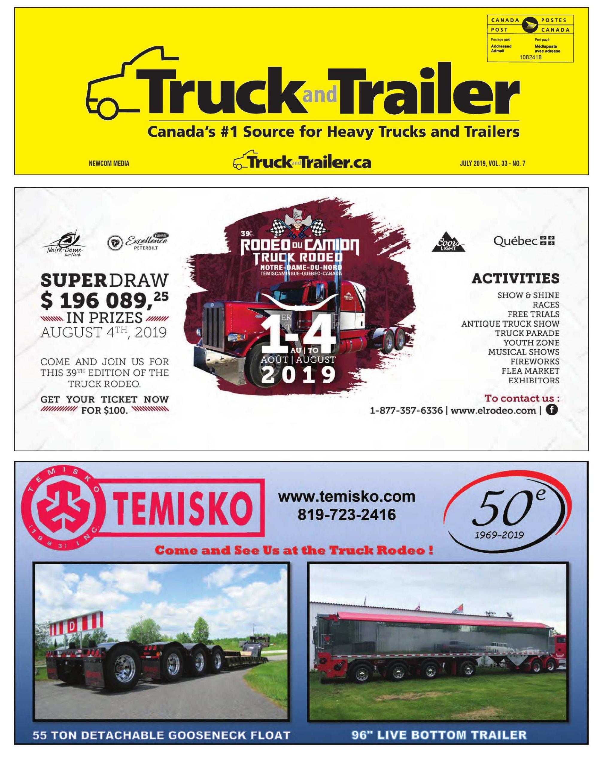 Truck and Trailer – 1 juillet 2019