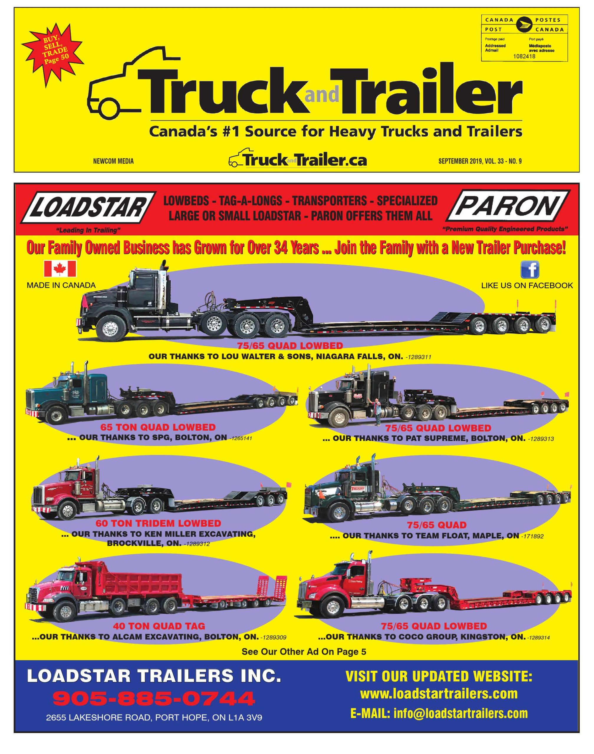 Truck and Trailer – 1 septembre 2019