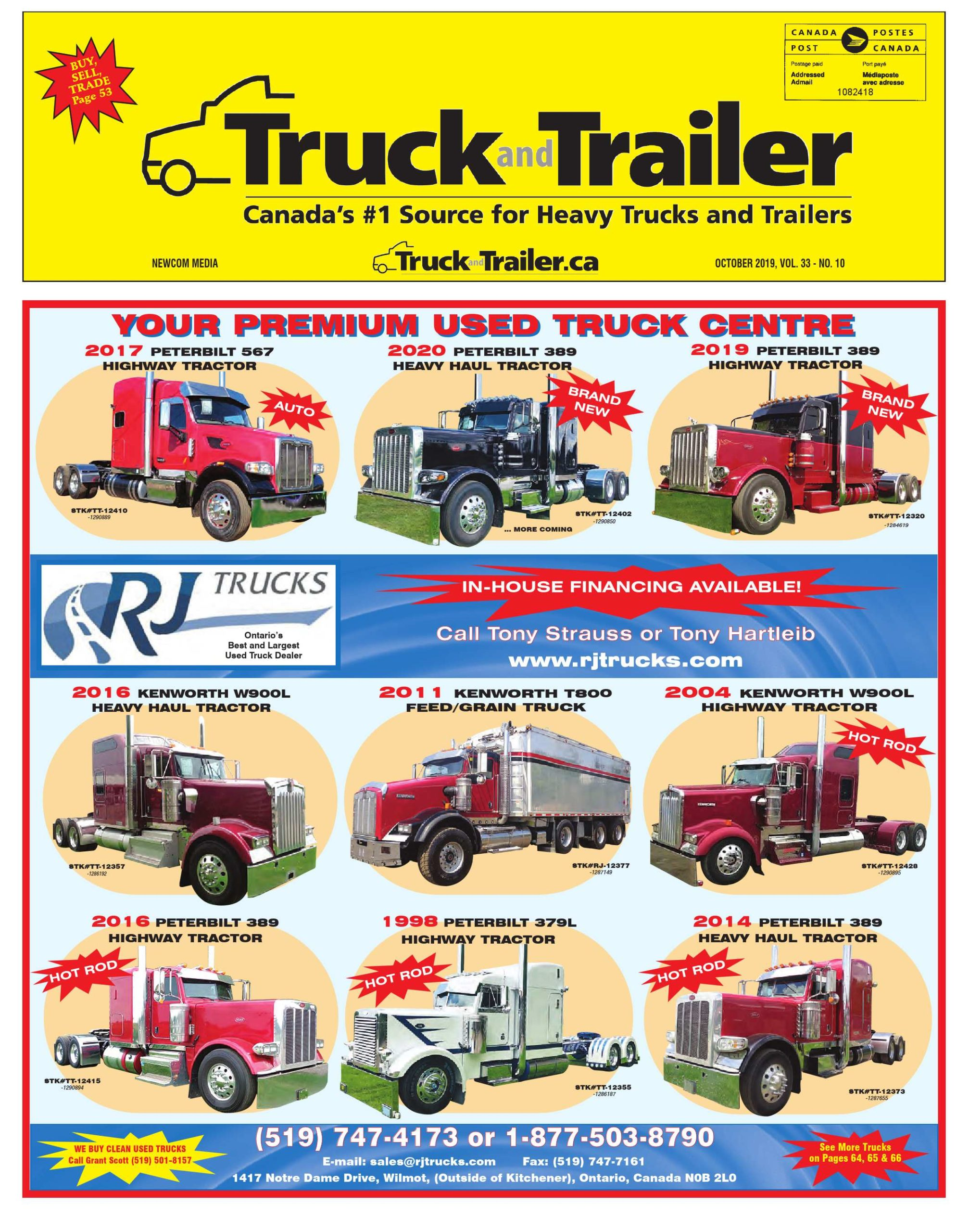 Truck and Trailer – 1 octobre 2019
