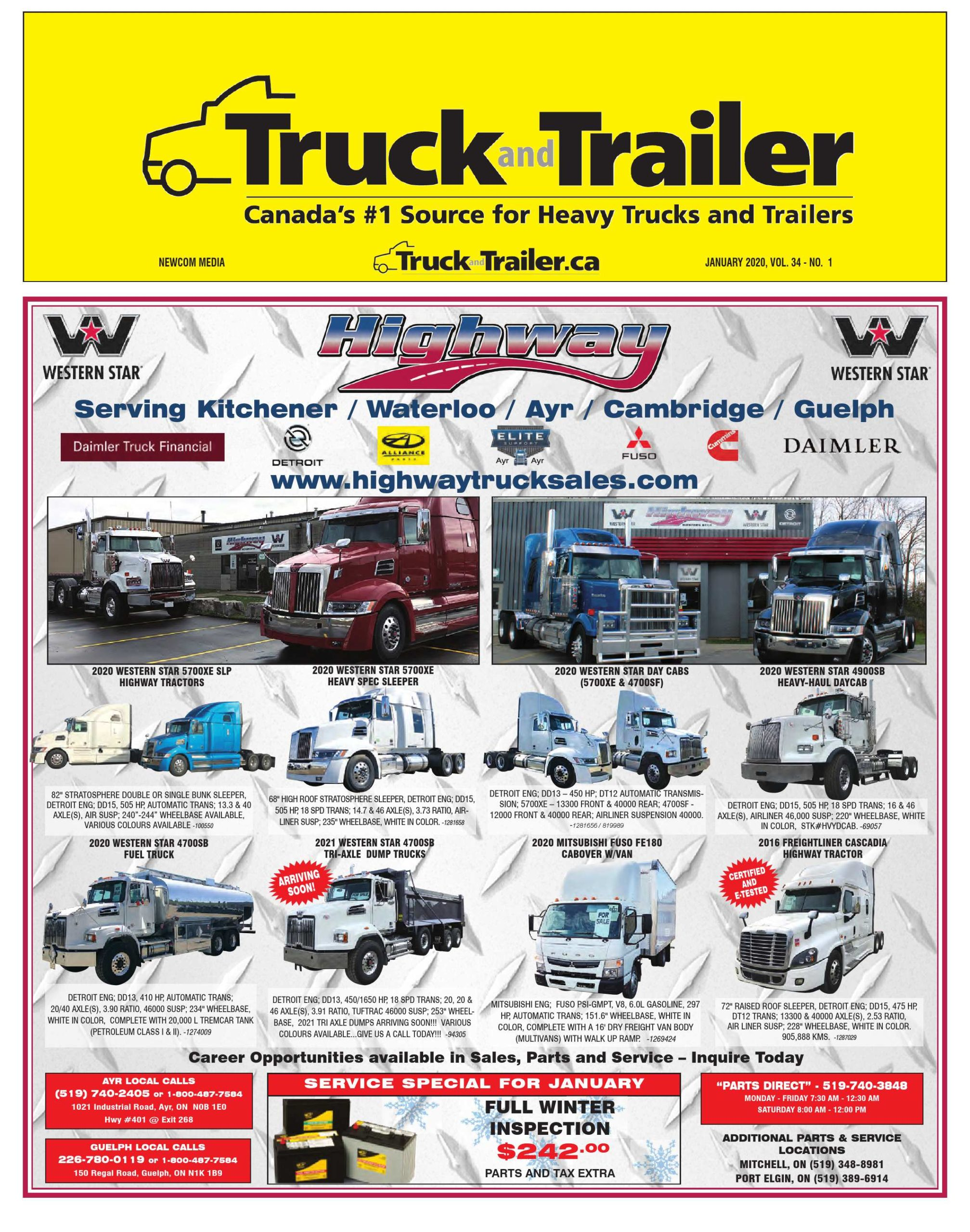 Truck and Trailer – 1 janvier 2020
