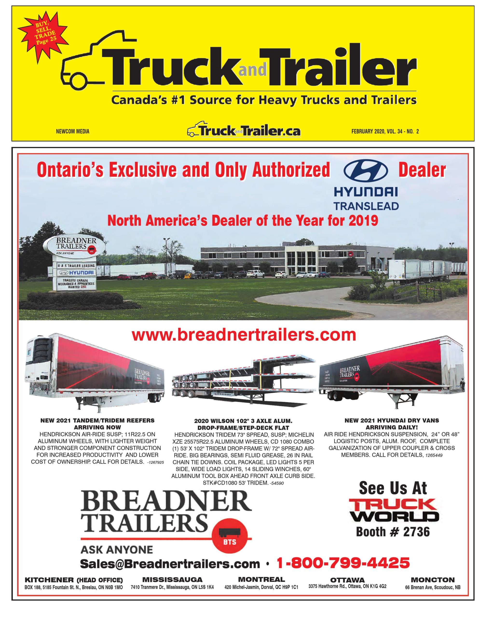 Truck and Trailer – 1 février 2020
